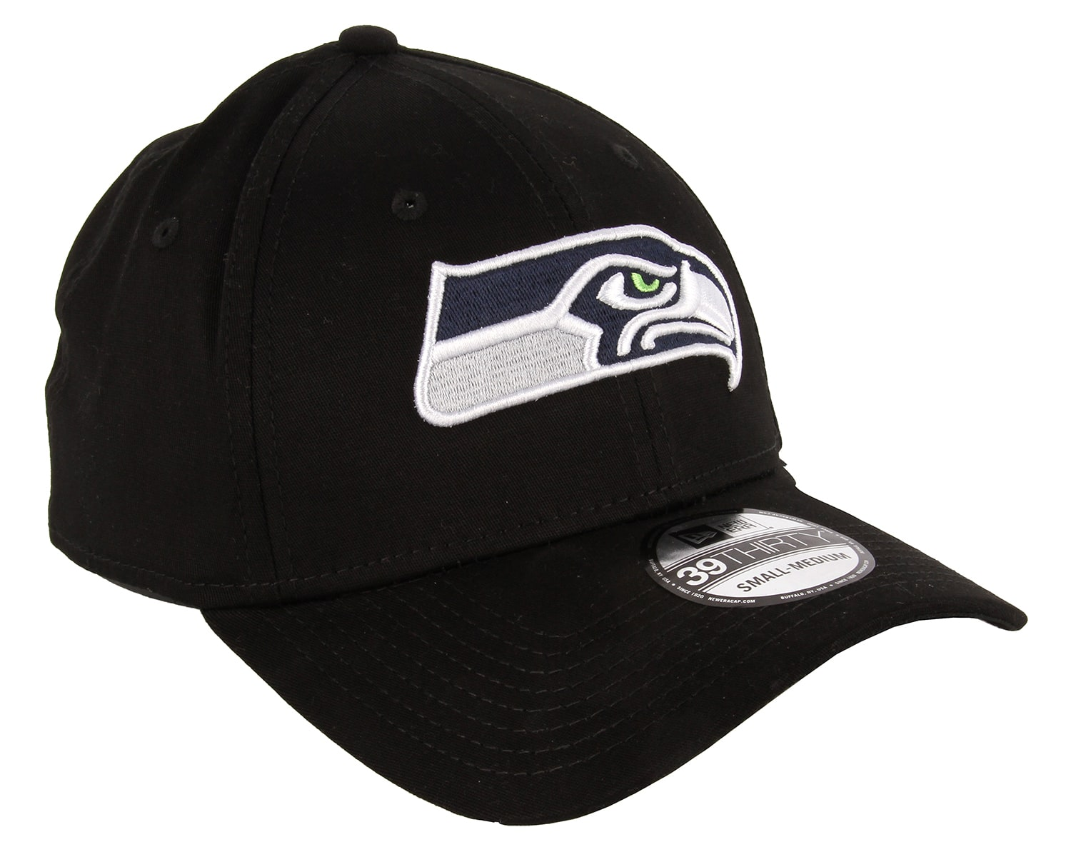 Details about New Era Seattle Seahawks NFL Black Base 39THIRTY Cap - black 0eea1787ae3
