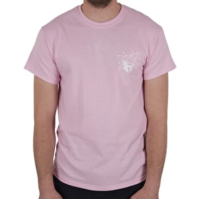 National Skateboard Co Spin T-Shirt - Pink