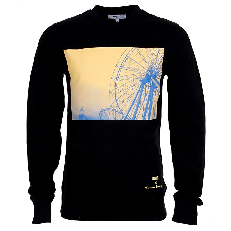 WeSC Blowing The Green Trumpet Crewneck - Black