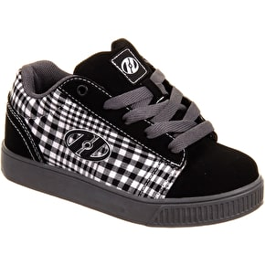 Heelys Straight Up - Black/Plaid/Charcoal/White