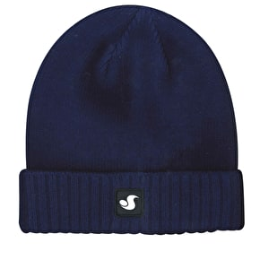 DVS Woven Damask Label Cuffed Beanie - Navy