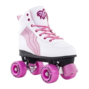 B-Stock Rio Roller Pure Quad Skates - White/Pink - UK 6 (Box Damage)