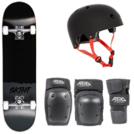 SKTHT Plain Third Skateboard Bundle