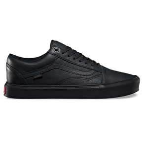 Vans Old Skool Lite Shoes - (Leather) Black/Black