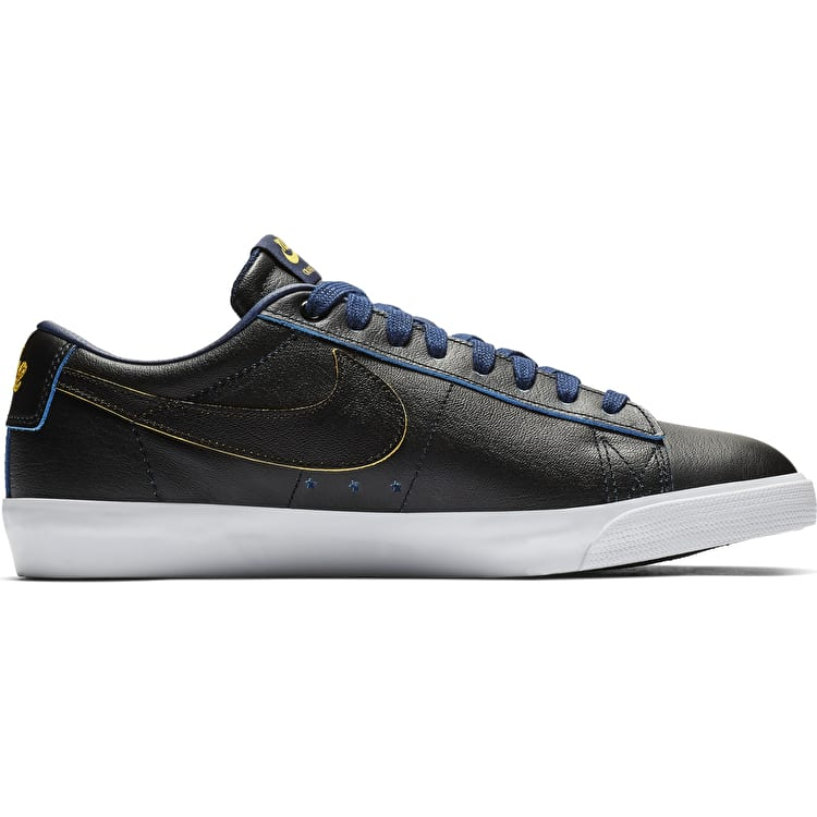 Nike SB Blazer Low GT NBA (Denver Nuggets) Skate Shoes - Black/Black-Amarillo-Coast