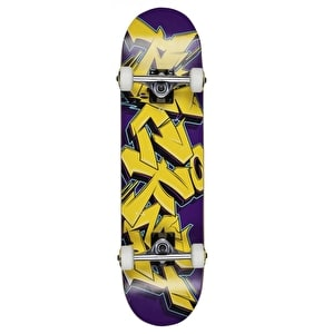 Rocket Skateboard - Graffiti Series Yellow/Purple 7.5