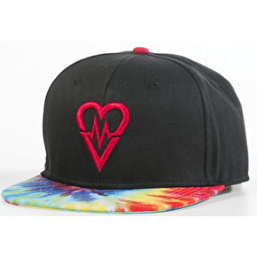 Revive Skateboards Snapback Cap - Black/Tie Dye