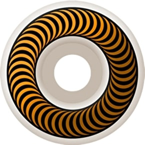 Spitfire Classic Skateboard Wheels - White/Yellow 55mm (Pack of 4)