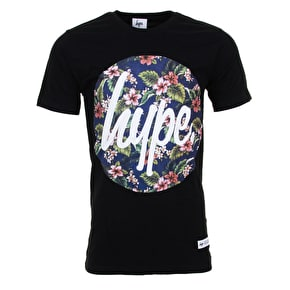 Hype Flower Circle T-Shirt - Black