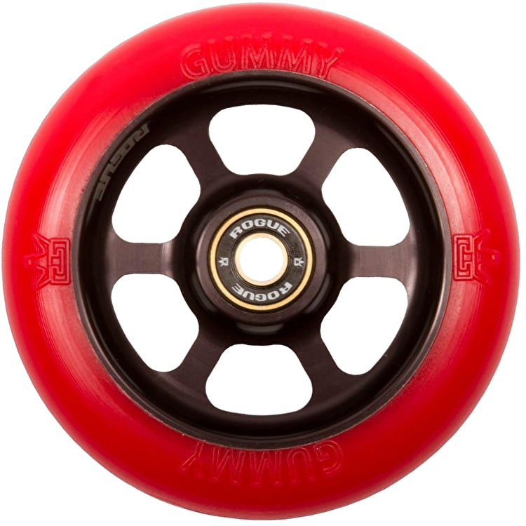 Rogue 110mm DB Gummy Scooter Wheel - Red/Black