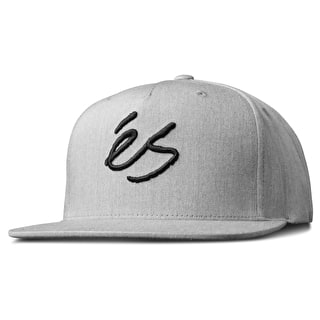 eS Script Snapback Cap - Grey Heather