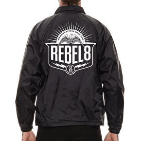 Rebel8 Standing Strong Coach Jacket - Black