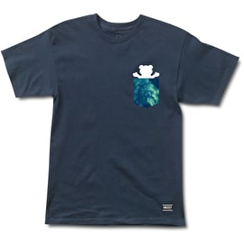 Grizzly Deep Water Pocket T Shirt - Navy