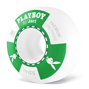 Jart x Playboy Poker Skateboard Wheels - Green 53mm