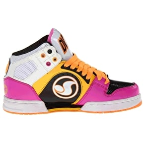 DVS Womens Aces High Shoes - White/Pink Action Leather