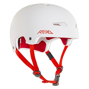 REKD Elite Helmet - White/Red