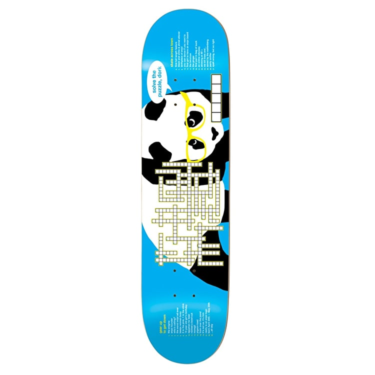 Enjoi Skateboard Deck - Crossword R7 Blue 8.25""
