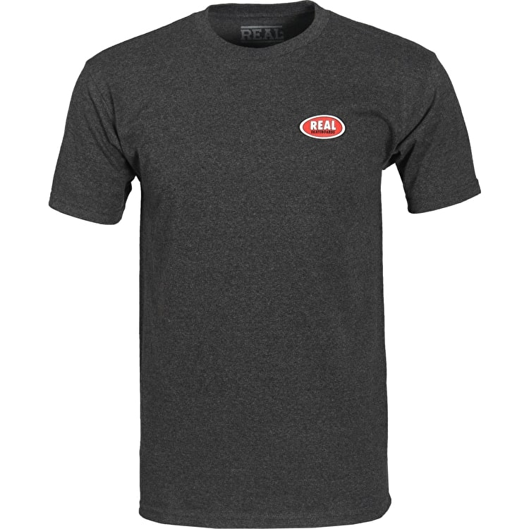 Real Stock Oval T-Shirt - Black Heather