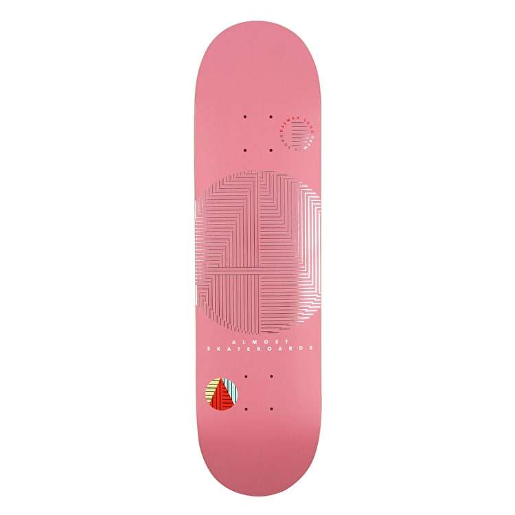 "Almost A+ Skateboard Deck 8.125"" - Pink"