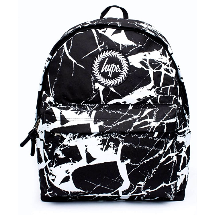 Hype Black Marble Backpack