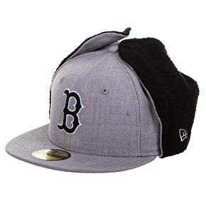 New Era Premium Dog Ear Cap - Redsox Heather Grey