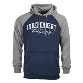 Independent Letterman Hoodie - Dark Heather/Indigo