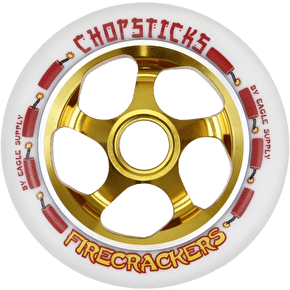 ChopSticks 110mm FireCracker Wheel - White PU