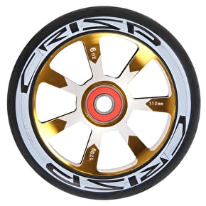 Crisp Hollowtech 110mm Scooter Wheel - Black/Gold