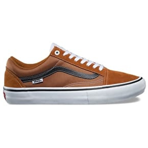 Vans Old Skool Pro Skate Shoes - Glazed Ginger/Black/White