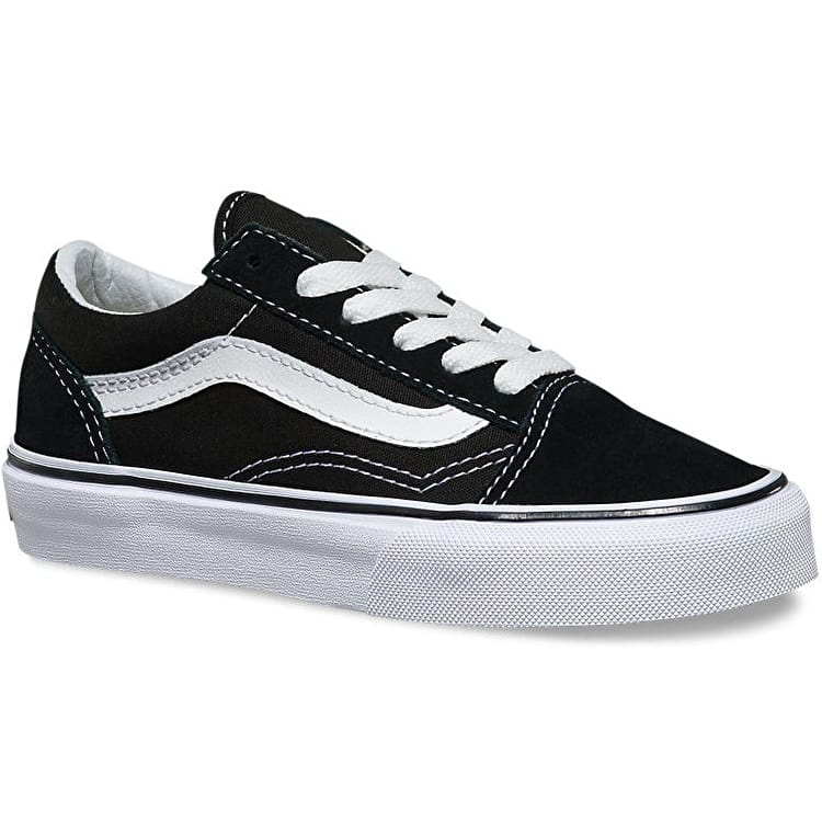 Vans Old Skool Kids Skate Shoes - Black/True White