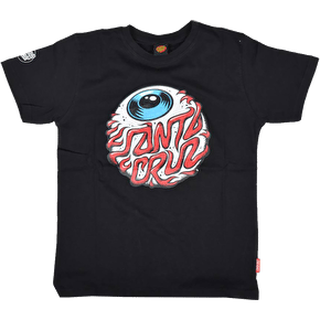 Santa Cruz Kids Eyeball T-Shirt - Black