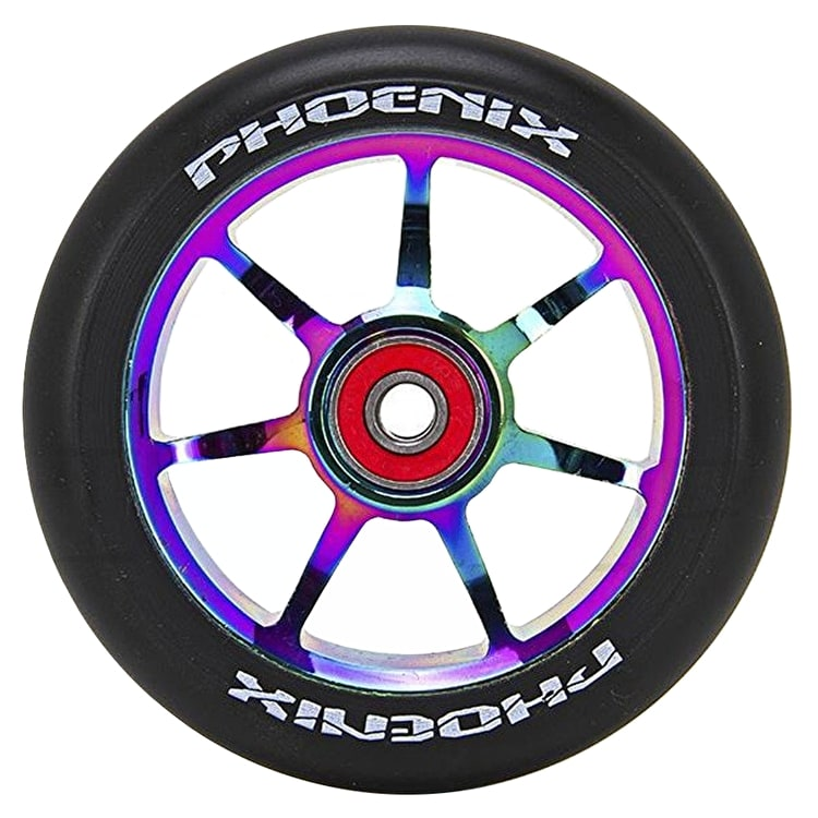 Phoenix F7 Alloy Core 110mm Scooter Wheel - Black/Neochrome