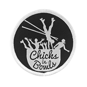 Chicks in Bowls Woven Patch