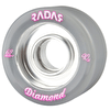 Radar Diamond 62mm Quad Derby Wheels 90A -Grey (4pk)