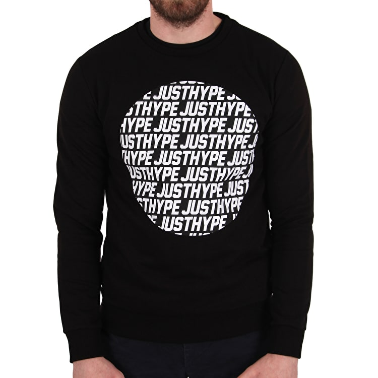 Hype Justhype Text Circle Crew Neck - Black