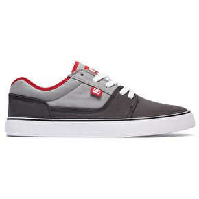 DC Tonik TX Skate Shoes - Grey/Red