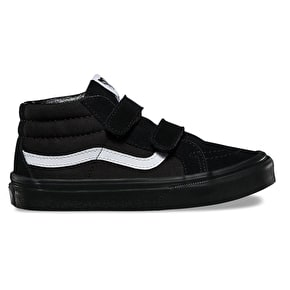Vans Sk8-Mid Reissue V Kids Shoes - (Canvas & Suede) Black/Black
