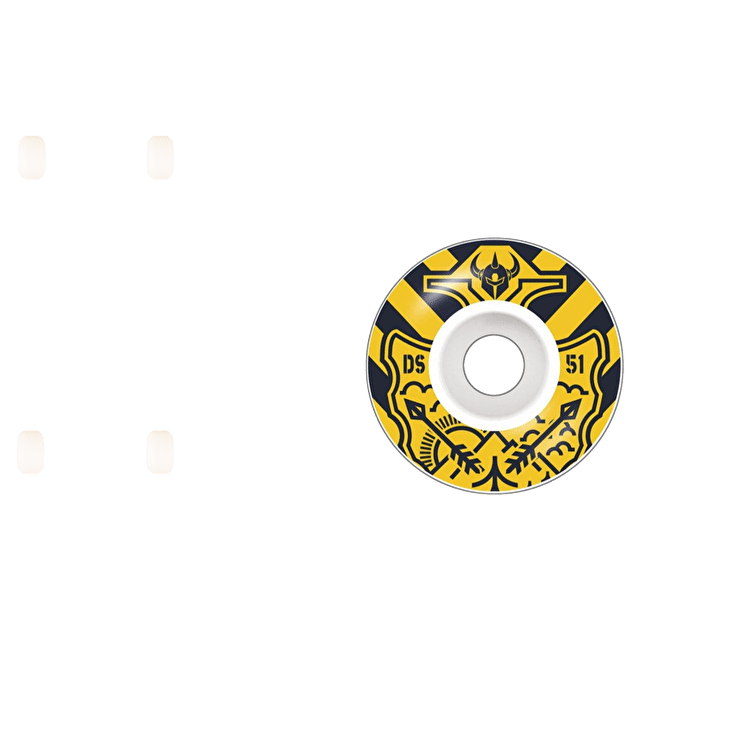 Darkstar Lockup Skateboard Wheels 51mm - Yellow