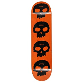 Zero Multi Skull Skateboard Deck - Black/Orange 8.125