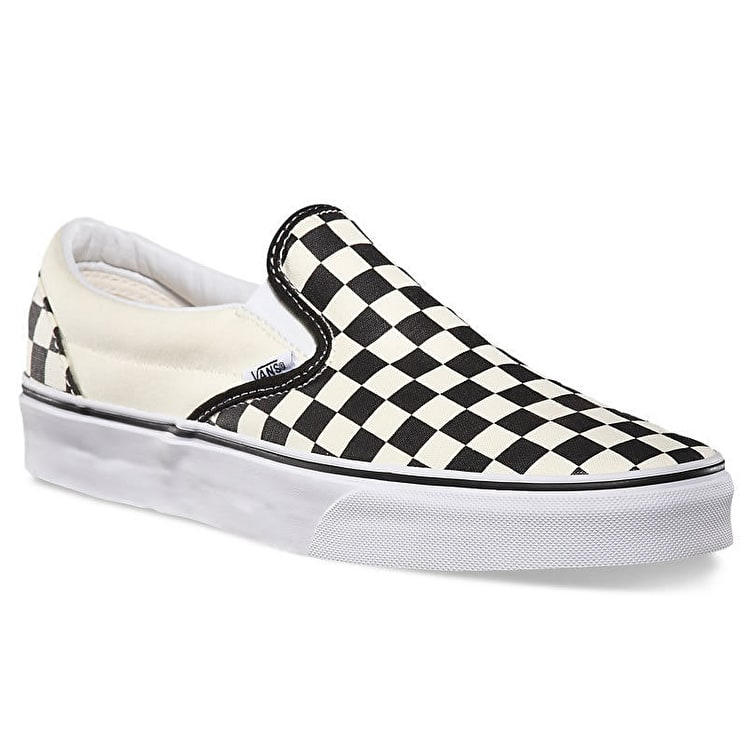 Vans Classic Slip On Shoes - Black/White Checkerboard - UK Junior 11 (B-Stock)