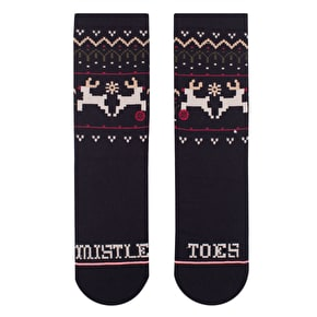 Stance Mistle Toes Kids Socks - Black