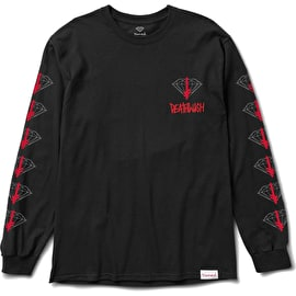 Diamond Supply Co X Deathwish Long Sleeve T Shirt - Black
