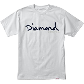 Diamond OG Script T-Shirt - White