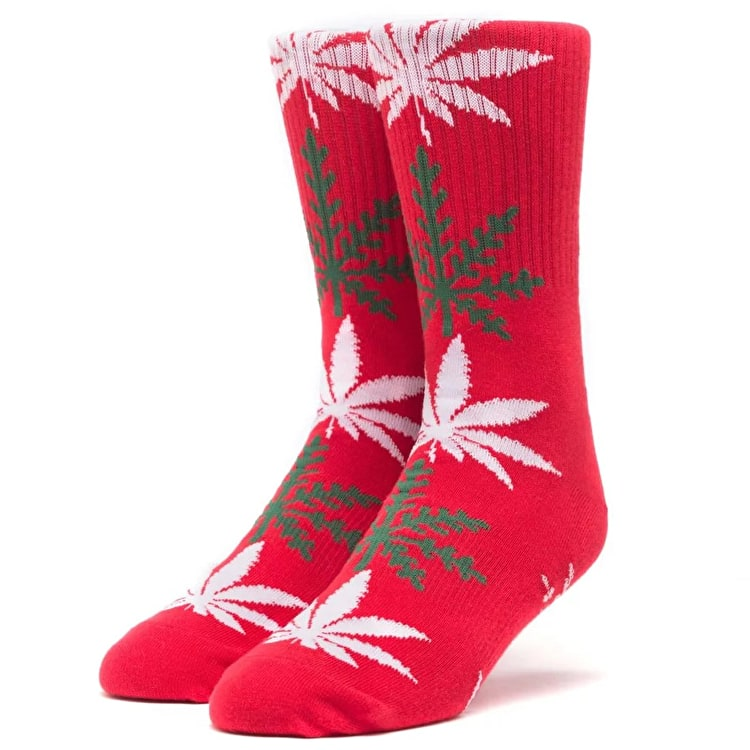 Huf Plantlife Glowflake Socks - Red