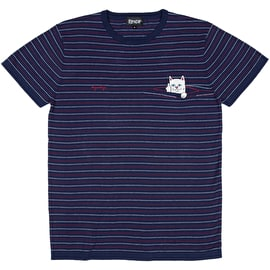 RIPNDIP Peeking Nermal Jacquard Knit T-Shirt - Navy/Red