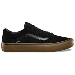 Vans Old Skool Pro Skate Shoes - Black/Gum