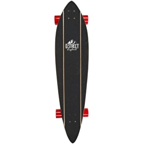 D-Street Pintail Dune Complete Longboard - Red/Yellow 42