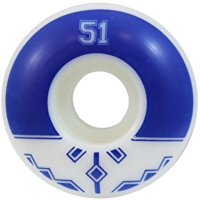 Fracture Uni Classic Skateboard Wheels - Blue 51mm