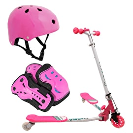 Volta Tribeca Volta Kids Scissor Scooter Bundle - Pink