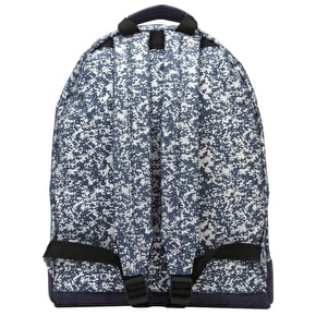 Mi-Pac Denim Splatter Backpack - Indigo/Silver